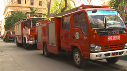 HD2009-4-5-20 Havana fire trucks Stock Video Footage