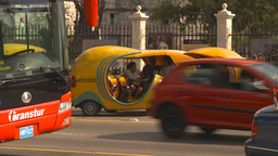 HD2009-4-5-36 Havana orange taxi Footage