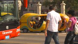 HD2009-4-5-36 Havana orange taxi Stock Video Footage