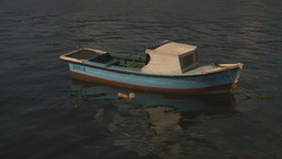 HD2009-4-5-38 Havana fishingskiff Stock Video Footage