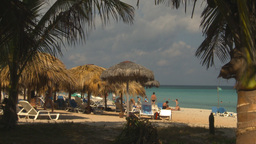 HD2009-4-6-8 Cuba beach Stock Video Footage