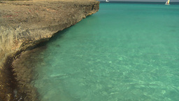 HD2009-4-6-16 Cuba beach green water Footage
