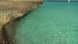 HD2009-4-6-16 Cuba beach green water Stock Video Footage
