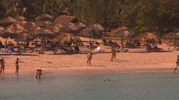 HD2009-4-6-22 Cuba beach Stock Video Footage
