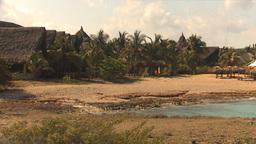 HD2009-4-6-26 Cuba beach thatch roof ut Stock Video Footage