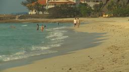 HD2009-4-6-35 Cuba beach sunset Stock Video Footage