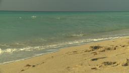 HD2009-4-6-37 Cuba beach sunset Stock Video Footage