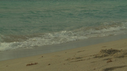 HD2009-4-6-43 Cuba beach sunset slomo Stock Video Footage
