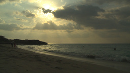 HD2009-4-6-45 Cuba Beach Sunset Slomo stock footage