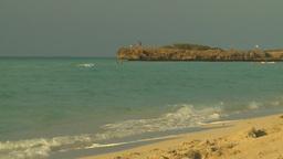 HD2009-4-6-49 Cuba beach sunset Stock Video Footage
