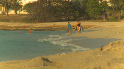 HD2009-4-6-53 Cuba beach sunset Stock Video Footage