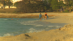 HD2009-4-6-53 Cuba beach sunset Footage