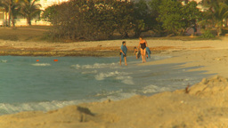 HD2009-4-6-53 Cuba beach sunset Stock Video Footage