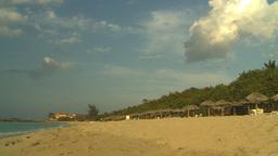 HD2009-4-6-55 Cuba beach sunset Stock Video Footage