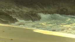 HD2009-4-6-62b Cuba beach sunset Stock Video Footage