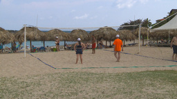 HD2009-4-7-11 Cuba beach vball Stock Video Footage