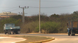 HD2009-4-7-19 Cuba highway Stock Video Footage