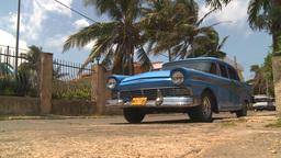 HD2009-4-7-33 Cuba old car Footage