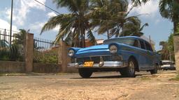 HD2009-4-7-33 Cuba old car Stock Video Footage