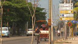HD2009-4-7-48 Cuba sm town road Stock Video Footage