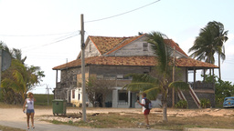 HD2009-4-7-50 Cuba sad house Stock Video Footage