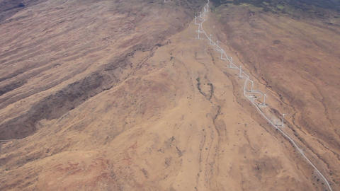 Wind Farm At Maui, Hawaii Aerial Shot stock footage