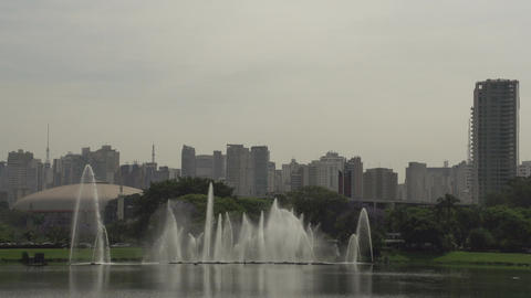 009 Sao Paulo , Ibirapuera park , waterfountain ,  Footage