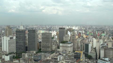 039 Sao Paulo , skyline , panshot Stock Video Footage