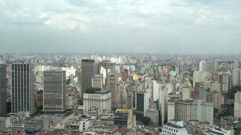 039 Sao Paulo , skyline , panshot Footage