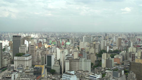039 Sao Paulo , skyline , panshot Stock Video Footage