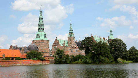 Frederiksborg Palace stock footage
