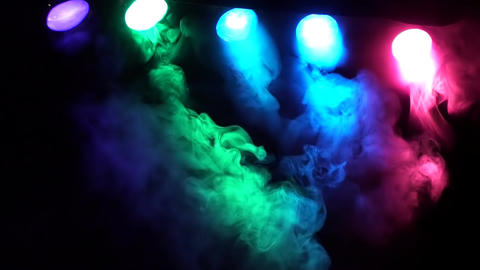 SMOKE AND CONCERT STAGE LIGHTS stock footage