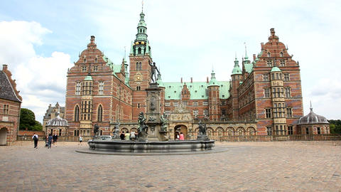 Frederiksborg - the largest Renaissance Castle in  Footage