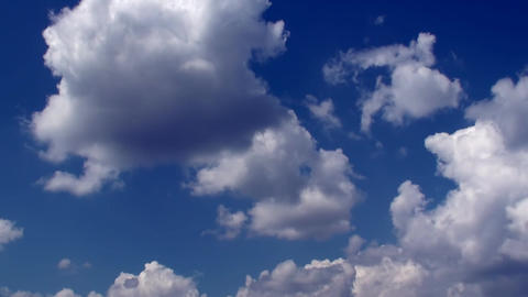 Time Lapse Clouds And Blue Sky HD Footage