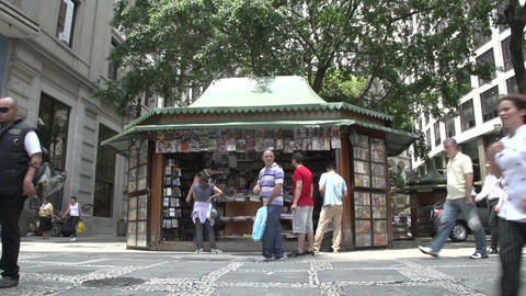 096 Sao Paulo , Bookshop , streetscene , people wa Footage