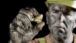 Gold miner Stock Video Footage