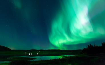 Iceland Aurora stock footage