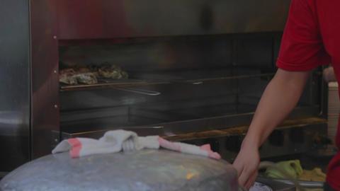 Cijin Island - Vendor making fresh seafood Footage