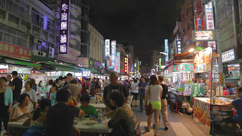 Liuhe Night Market main street night market Live Action