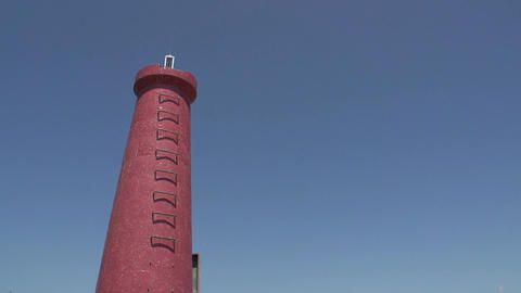 056 Laguna , Lighthouse at blue sky Stock Video Footage