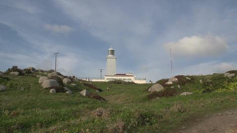 079 Laguna , Santa Marta Lighthouse Stock Video Footage