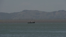 0123 Laguna , fishermen in water and boat , dolphi Footage