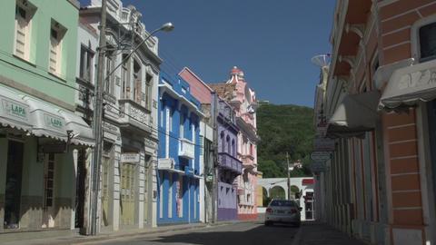 0150 Laguna , Colonial buildings , blue sky Footage