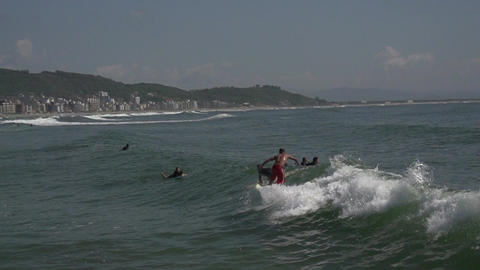 045 Laguna , Beach , surfers in water , slowmotion Footage
