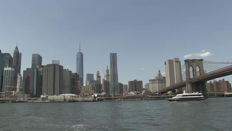 Manhattan and Brooklyn Bridge Stock Video Footage