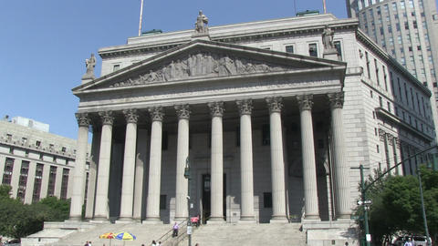 The Supreme Court Of New York City stock footage