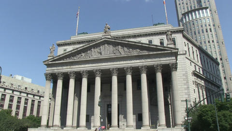 Supreme Court Of New York City stock footage
