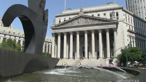 NYC Supreme Court stock footage