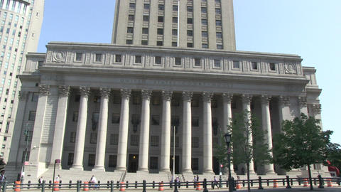 US Courthouse In New York stock footage