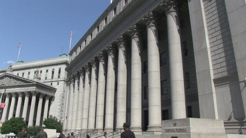 US Courthouse in New York Stock Video Footage